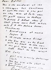 Zodiac Killer July 31, 1969 Letter1