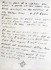 Zodiac Killer July 31, 1969 Letter2